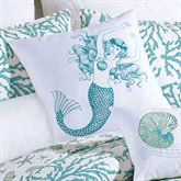 Cora Tailored Mermaid Pillow White 18 Square