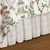 Garden Folly Gathered Bedskirt Ivory