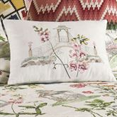 Garden Folly Embroidered Rectangle Pillow Ivory