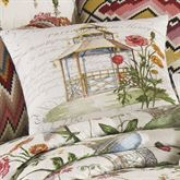 Garden Folly Tailored Square Pillow Ivory 18 Square