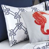 Knotty Buoy Quilted Sham White Standard