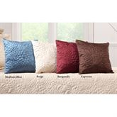 Gardenia Quilted Square Pillow 16 Square