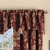 Melbourne Floral Scalloped Valance Burgundy 52 x 17