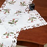 Holly and Lace Placemats Green Set of Four