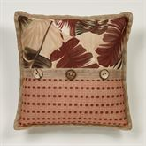 Key West Pieced Flanged Pillow Multi Warm 18 Square