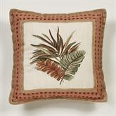 Key West Flanged Embroidered Pillow Multi Warm 18 Square