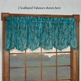 King Peacock Sheer Scalloped Valance Sapphire 59 x 21