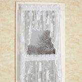 Snowman Lace Swag Valance Pair White 56 x 38