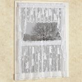 Snowman Lace Tier Window Treatment Set White 56 x 24