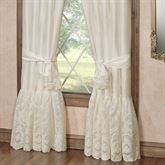 Cameo Lace Tailored Curtain Pair Pearl 84 x 84