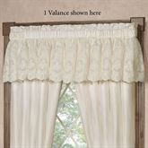 Cameo Lace Tailored Valance Pearl 72 x 18