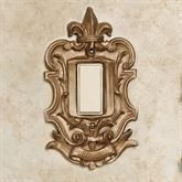 Royal Single Dimmer Rocker Switchplate Aged Gold