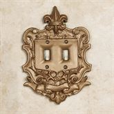 Royal Double Switchplate Aged Gold