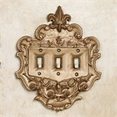 Royal Triple Switchplate Aged Gold