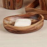 Acacia Wood Soap Dish Light Brown