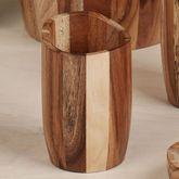 Acacia Wood Tumbler Light Brown