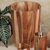 Acacia Wood Wastebasket Light Brown