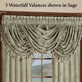 Floral Lustre Waterfall Valance 48 x 37