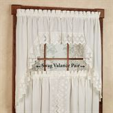 Nouveau Tailored Swag Valance Pair 70 x 38