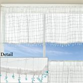 Seacoast Tailored Valance White 45 x 15