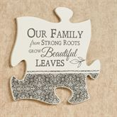 Our Family Quote Puzzle Piece Cream