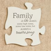 Family Is Quote Puzzle Piece Cream