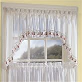 Apple Orchard Swag Valance Pair Ivory 60 x 30