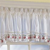 Apple Orchard Tailored Valance Ivory 60 x 14