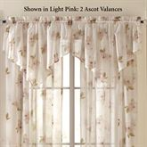 Water Lily Scroll Ascot Valance 50 x 25