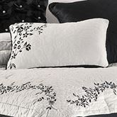 Timeless(TM) Embroidered Rectangle Pillow White