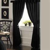 Timeless(TM) Tailored Wide Curtain Pair Black 110 x 84