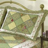 Ashley Quilted Sham Olive Standard