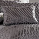 Bohemia Piped Rectangle Pillow Dark Gray
