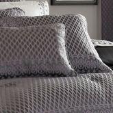 Bohemia Piped Square Pillow Dark Gray 20 Square