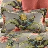 Polly Island Flanged Pillow Eucalyptus Rectangle