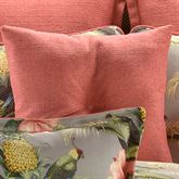 Polly Island Tufted Pillow Dark Coral 18 Square