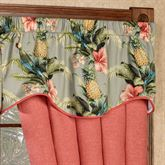 Polly Island Shaped Valance Eucalyptus 50 x 17