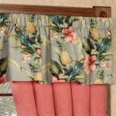 Polly Island Tailored Valance Eucalyptus 52 x 17