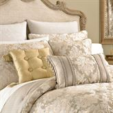 Ava Leaf Embroidered European Sham Light Taupe