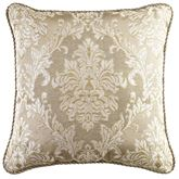 Ava Leaf Piped Square Pillow Light Taupe 18 Square