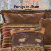 Montana Morning Tailored European Sham Chocolate