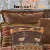 Montana Morning Tailored European Sham Chocolate