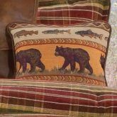 Montana Morning Square Bear Pillow Chocolate 18 Square