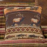 Montana Morning Square Moose Pillow Chocolate 18 Square