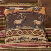 Montana Morning Square Moose Pillow Chocolate 18 Square