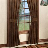 Montana Morning Wide Curtain Pair Chocolate 100 x 84