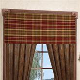 Montana Morning Tailored Valance Chocolate 52 x 17