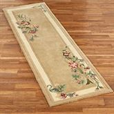Floral Bouquet Rug Runner Light Gold