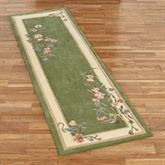 Floral Bouquet Rug Runner Deep Sage