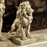 Lions at Guard Sculpture Pair - Small